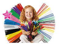 Набор плюшевой проволоки разных цветов 100шт, фото 1