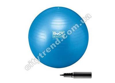 Фитбол (мяч для фитнеса) Solex гладкий 75 см с насосом