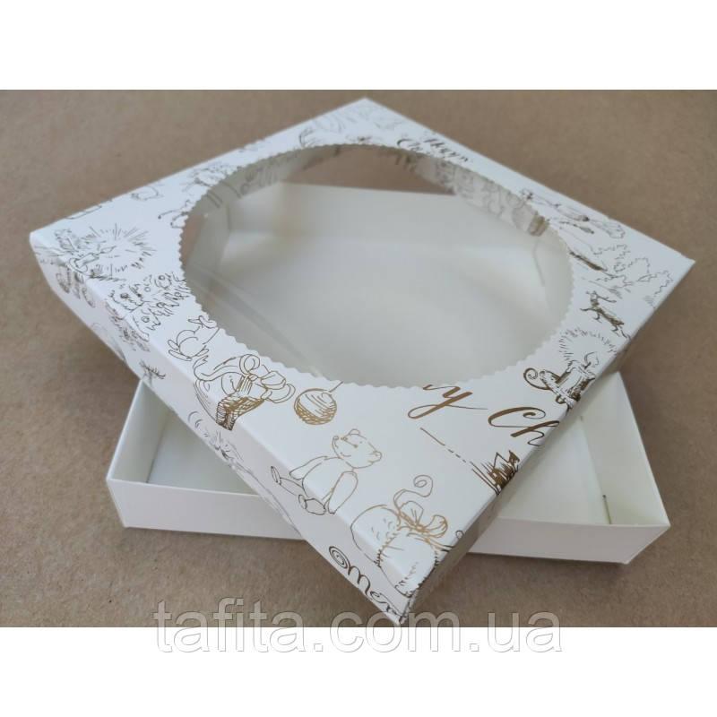 Коробка 15×15×3,5 Marry Cristmas