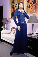 """Платье """"Искушение""""темно-синий"""