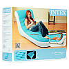 Надувное кресло-шезлонг Intex 68880 велюр 184х170х81 см, фото 9