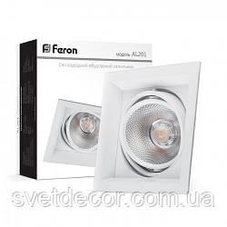 Карданный светодиодный светильник Feron AL201 COB 12 w 4000K белый