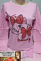 Пижама утепленная подросток для девушки Турция  Кот манжет 12, 13, 14, 15, 16, 17, 18 лет