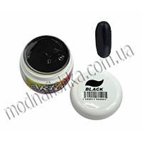 Гель-краска BLAZE Art Gel  Black  черная, 5 ml