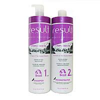 Набор 2-Purple EKO Подготовительный шампунь + Интенсивный термо реконструктор ( Шаг1 + Шаг 2), 2*1000 мл