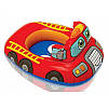Детский надувной Круг-Плот с отверстиями для ножек Intex 59586 77х58см транспорт, фото 3