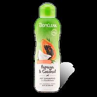 Шампунь Тропиклин папая кокос для собак и кошек Увлажняющий Tropiclean Papaya Coconut 355 мл