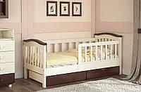 Детская кровать от 3 лет с бортиками Конфетти