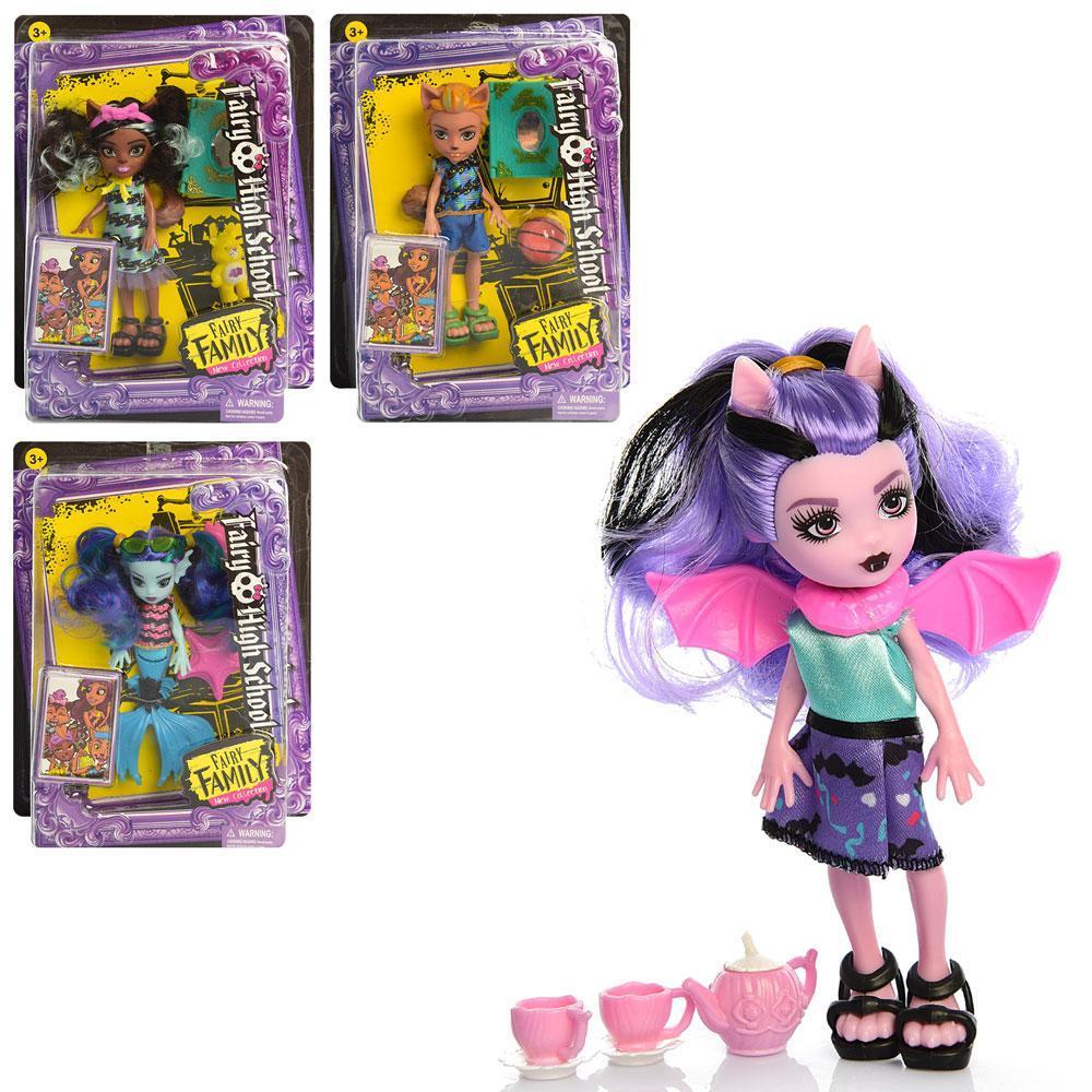Кукла DH2183 MH, 13см, аксессуары, 4вида,
