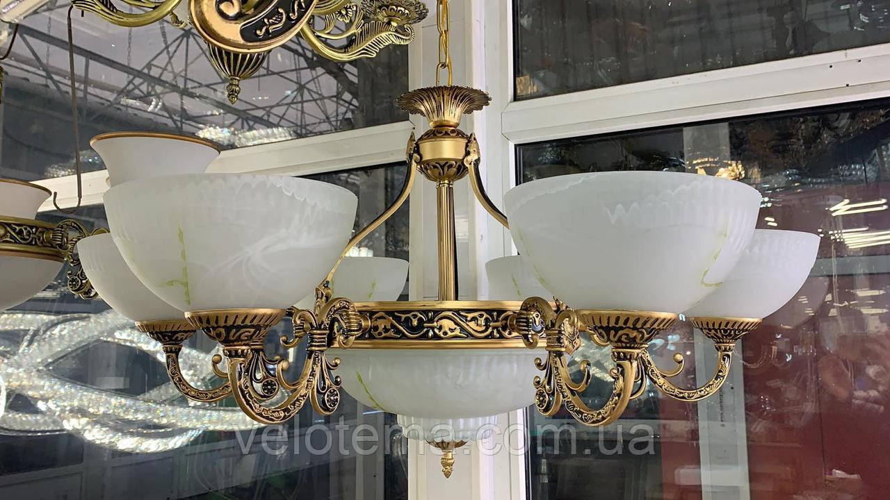 Люстра классическая подвесная 9 лампочек