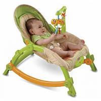 Fisher-Price кресло качалка Newborn to Toddler Portable Rocker 0-4 лет, фото 1