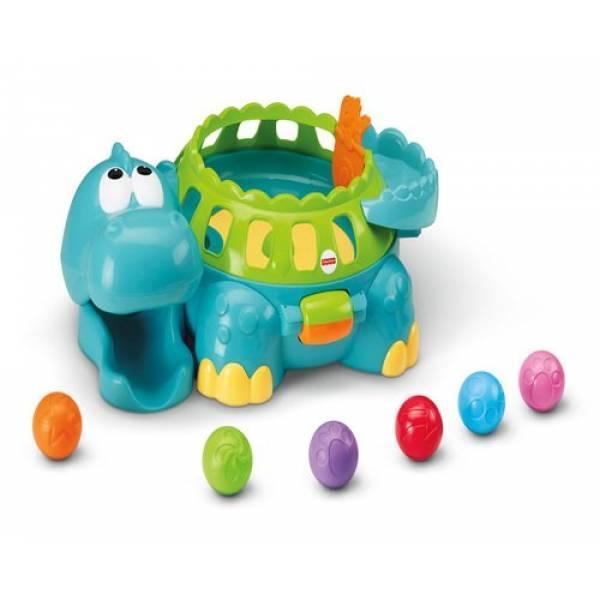 Динозавр Дино с шариками Fisher Price Go Baby Go Poppity Pop