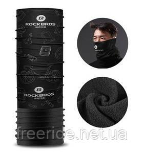 Бафф с флисом зимний, теплый шарф Rockbros (велотематика)