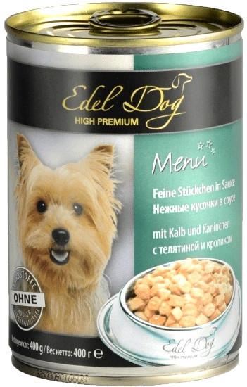 Консерви для собак Edel Dog з телятиною і кроликом 400 г