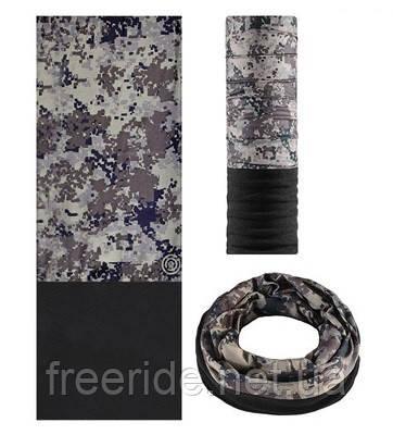 Бафф с флисом зимний, теплый шарф Rockbros (камуфляжный)
