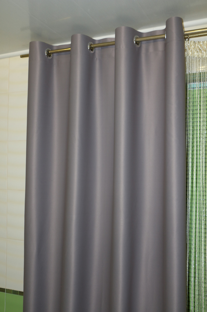 Готовые шторы блэкаут на люверсах 2шт. ширина по 1,5м. серые