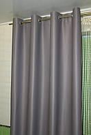 Готовые шторы блэкаут на люверсах 2шт. ширина по 1,5м. серые, фото 1