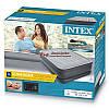 Двуспальная надувная кровать Intex 64140 203х152х51 см велюровая со встроенным насосом 220V/В, фото 3