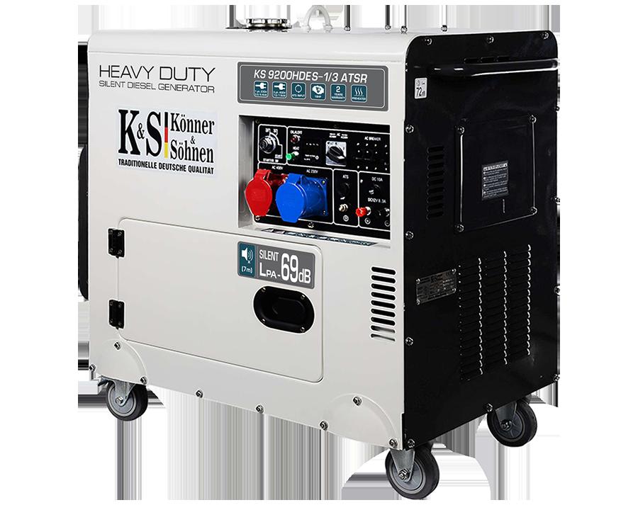 Дизельный генератор Könner & Söhnen  KS 9200HDES-1/3 ATSR (Euro V) (7.5 кВт)