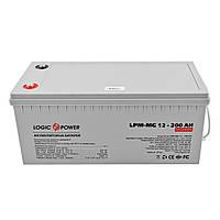 Аккумуляторная батарея LogicPower 12V 200AH (LPM-MG 12 - 200 AH) AGM мультигель