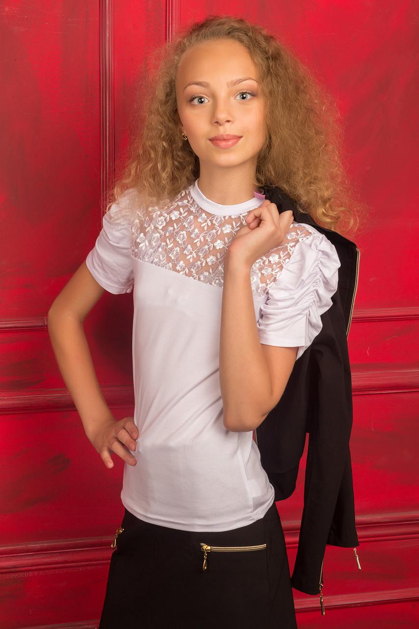 Блуза для девочки, с коротким рукавом