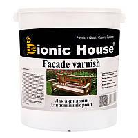"""Лак на водной основе Bionic house """"FACADE VARNISH"""" для внешних работ (ПОЛУМАТ) 10л"""