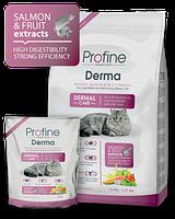 Профайн Дерма, сухой корм для кошек 300гр/ суперпремиум
