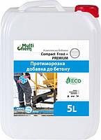 Антифриз бетона, тротуарной плитки CompactFrostEuro,5л/Антифриз бетону, тротуарної плитки CompactFrostEuro 5л
