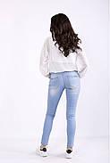 ❤/ Размер 42-74 / Шифоновая блузка 01287 / Больших размеров, фото 4