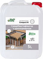 MultiChem. СуперПластифікатор-Прискорювач Compact-95, 5 л. Пластификатор для бетона, тротуарной плитки., фото 1