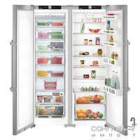 Холодильники и морозильные камеры Liebherr Комбинированный холодильник Side-by-Side Liebherr SBSef 7242 Comfort NoFrost (А++) серебристый (SKef 4260 +