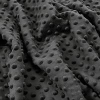 ✁Відріз плюш Minky графітовий 100х75 см
