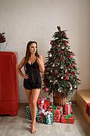 Шелковая пижама ( шорты + майка) +Подарочная упаковка!