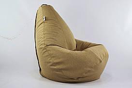 Бежевое Кресло мешок груша пуфик  XL (120х75)