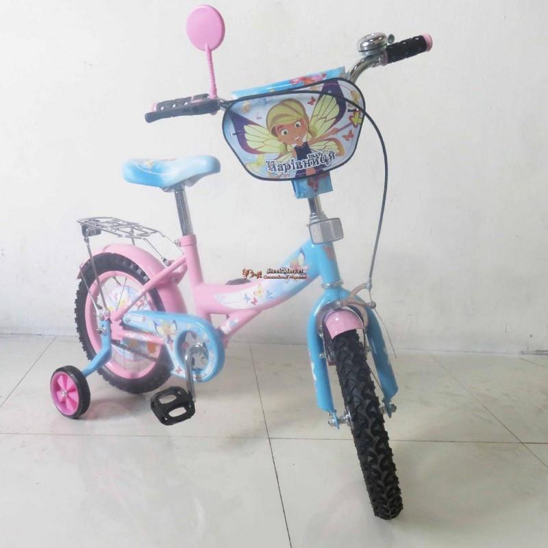 Велосипед TILLY Чарівниця 14 T-21426 pink + blue
