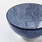 Набор мисок IKEA ENTUSIASM 4 шт рисунком синий 12 см 704.172.41, фото 2