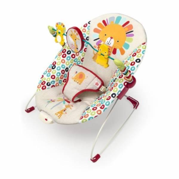 Вибро шезлонг  Bright Starts Playful Pinwheels Bouncer