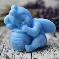 """Мыло детское """"Младенец с баночкой меда"""", голубое - LaQ Happy Soaps 50 g"""