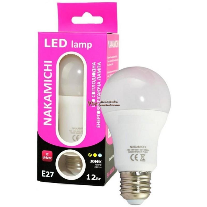 Светодиодная энергозберегающая LED лампочка E27 12W 3000 K (SLA A60-12b 3000)