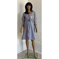 Ночная сорочка с теплым халатом разных цветов для беременных и кормящих мам 44-52 р, фото 1