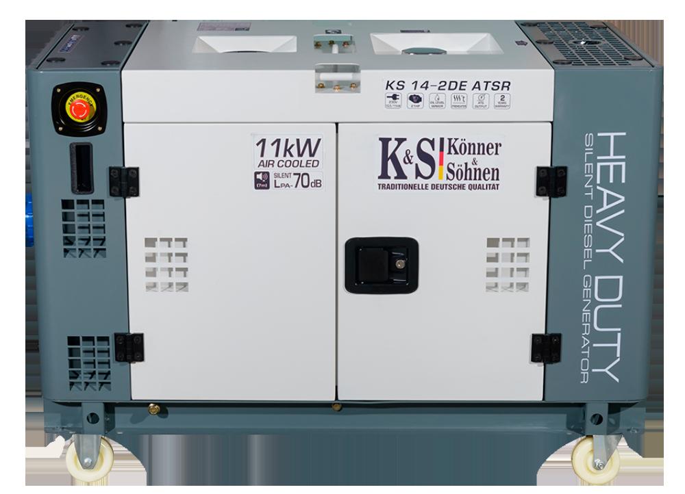 Однофазный дизельный генератор Könner & Söhnen KS 14-2DE ATSR (11 кВт)