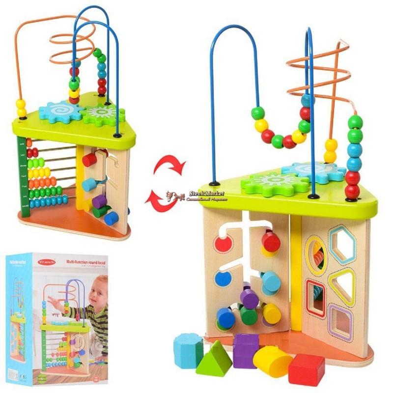 Деревянная игрушка развивающий центр