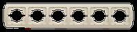 Рамка ABB El-bi Tuna шестиместная горизонтальная белая, Турция