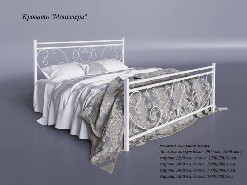Кровать кованая Монстера Тенеро 190(200) х 160