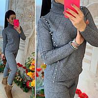 Теплый костюм женский, стильный, серый, 211-0880-3, фото 1