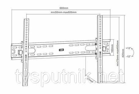 """Телевизионный Кронштейн ITECHmount PLB6T (37"""" - 70""""), фото 2"""