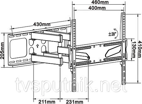 """Кронштейн ITECHmount PTRB44 (26""""-55""""), фото 2"""
