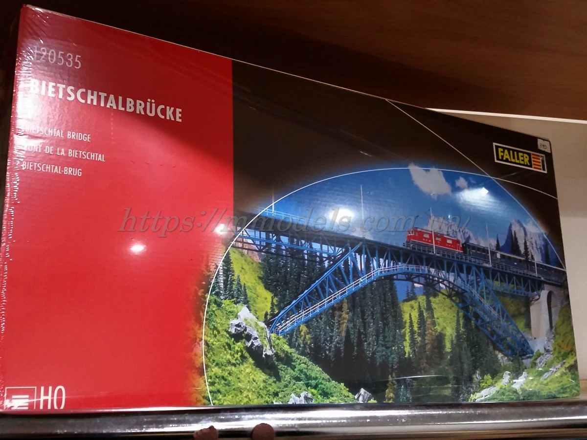 Faller 120535 Мост Арочный 2х путный  - Размером 1100мм x 115мм x 255мм / 1:87