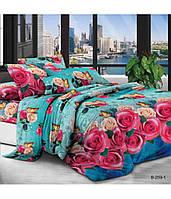 Двуспальное постельное белье полиСАТИН 3D (поликоттон) 85259