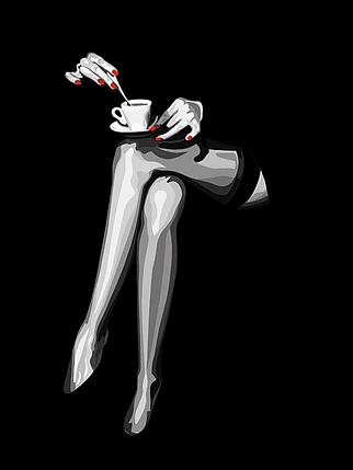КДИ-0832 Набор алмазной вышивки Вечерний кофе, фото 2